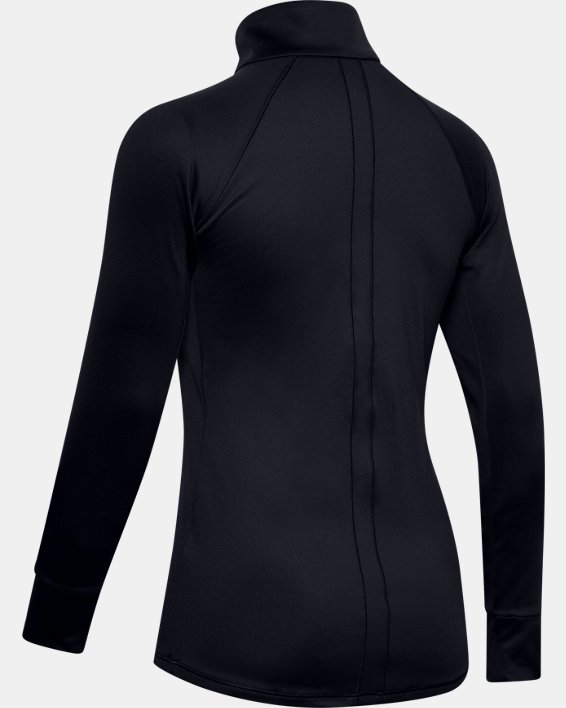 Women's UA Cozy ½ Zip Long Sleeve, Black, pdpMainDesktop image number 5