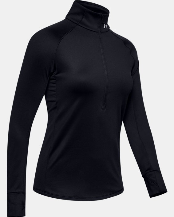 Women's UA Cozy ½ Zip Long Sleeve, Black, pdpMainDesktop image number 4