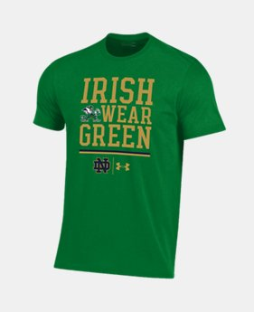 Men's Notre Dame Charged Cotton® Irish Wear Green T-Shirt   1  Color Available $28