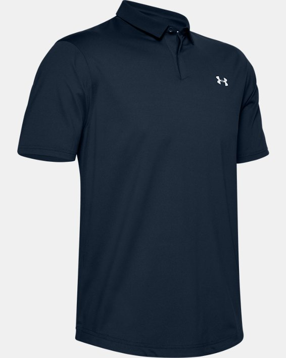 Men's UA Iso-Chill Printed Polo, Navy, pdpMainDesktop image number 3