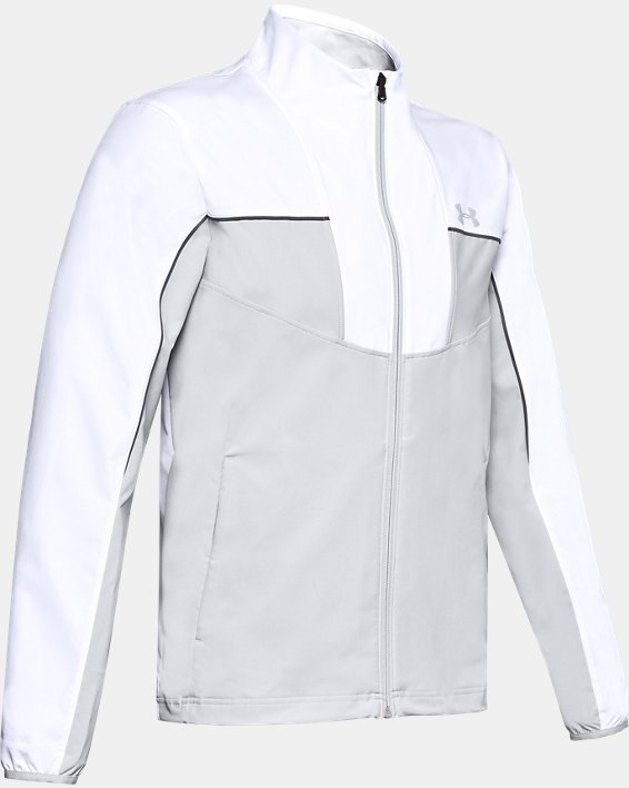 Men's UA Storm Windstrike Full Zip, White, pdpMainDesktop image number 3