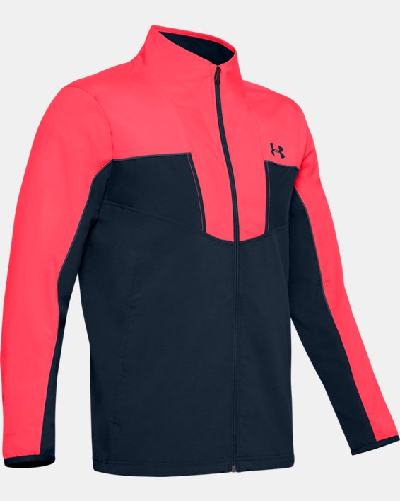 Men's UA Storm Windstrike Full Zip, Red, pdpMainDesktop image number 3