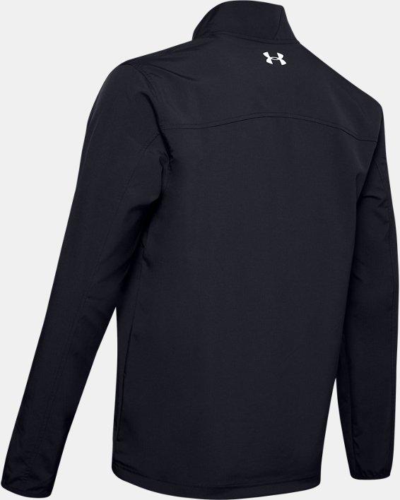 Men's UA Storm Windstrike ½ Zip, Black, pdpMainDesktop image number 4