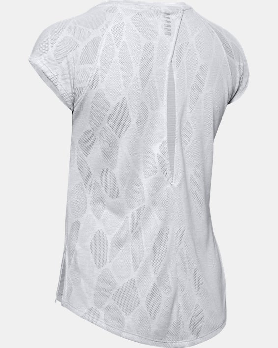 Women's UA Streaker 2.0 Shift Short Sleeve, Gray, pdpMainDesktop image number 5