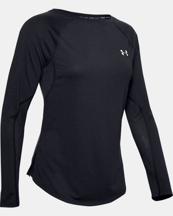 Women's UA Streaker 2.0 Shift Long Sleeve, Black, pdpMainDesktop image number 4