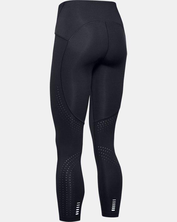 Women's UA Qualifier Speedpocket Perforated Crop, Black, pdpMainDesktop image number 4