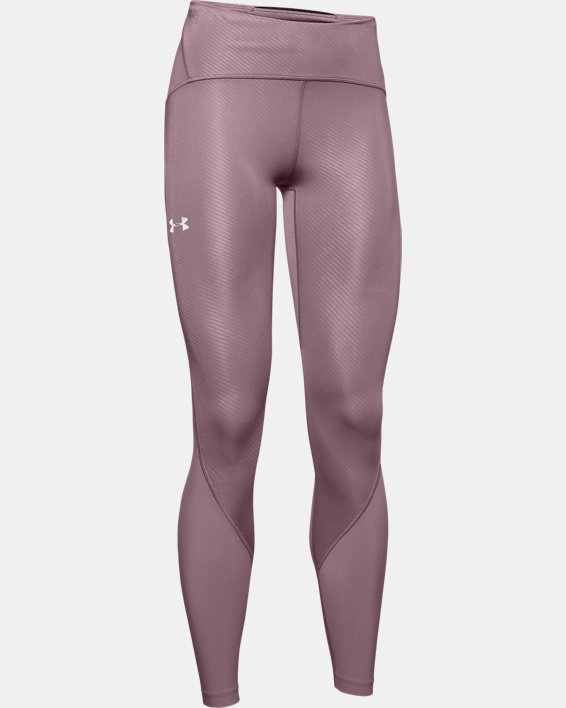Women's UA Fly Fast Embossed Tights, Pink, pdpMainDesktop image number 4