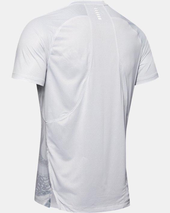 Men's UA Qualifier Iso-Chill Run Weightless Short Sleeve, Gray, pdpMainDesktop image number 4