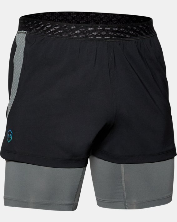 Men's UA RUSH™ Run 2-in-1 Shorts, Black, pdpMainDesktop image number 3