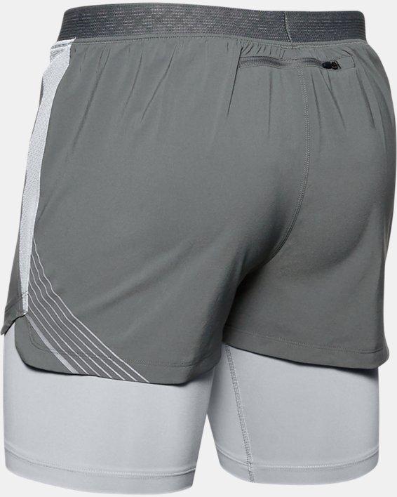 Men's UA RUSH™ Run 2-in-1 Shorts, Gray, pdpMainDesktop image number 4