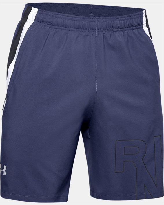 Men's UA Launch SW Branded 7'' Shorts, Blue, pdpMainDesktop image number 4