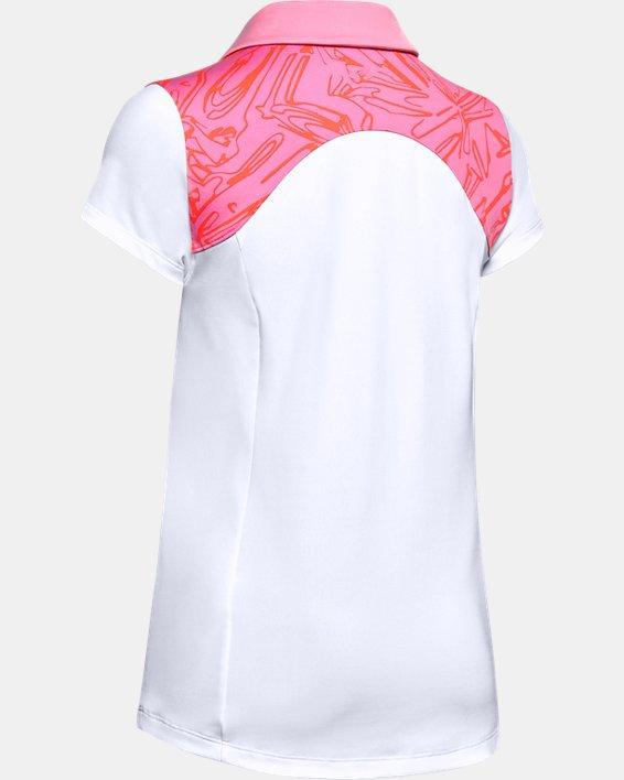 Women's UA Zinger Blocked Polo, White, pdpMainDesktop image number 4