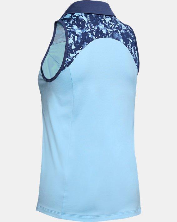 Women's UA Zinger Sleeveless Blocked Polo, Blue, pdpMainDesktop image number 4