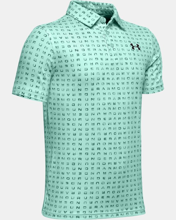 Boys' UA Playoff Polo, Green, pdpMainDesktop image number 0