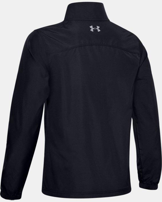 Boys' UA Storm Woven ¼ Zip, Black, pdpMainDesktop image number 1