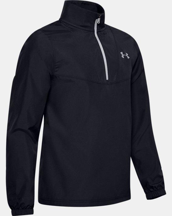 Boys' UA Storm Woven ¼ Zip, Black, pdpMainDesktop image number 0