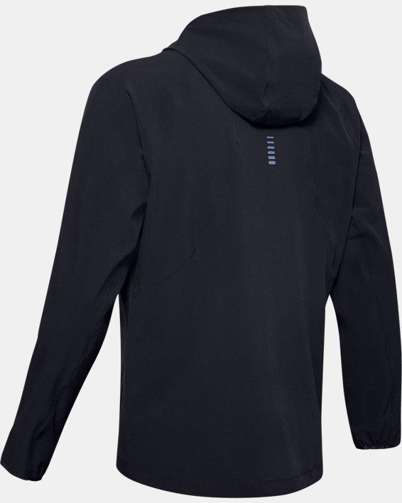Men's UA Qualifier Outrun The Storm Jacket, Black, pdpMainDesktop image number 4