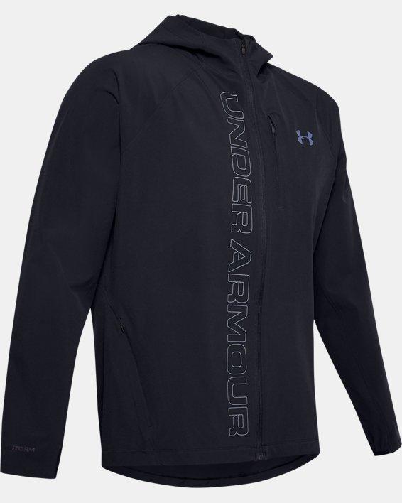 Men's UA Qualifier Outrun The Storm Jacket, Black, pdpMainDesktop image number 3