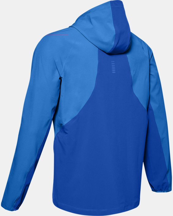 Veste UA Qualifier Outrun The Storm pour homme, Blue, pdpMainDesktop image number 4