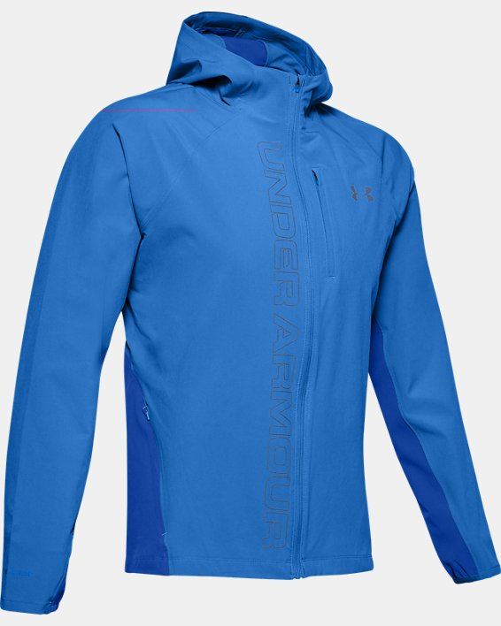 Veste UA Qualifier Outrun The Storm pour homme, Blue, pdpMainDesktop image number 3