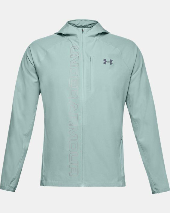 Men's UA Qualifier Outrun The Storm Jacket, Blue, pdpMainDesktop image number 3