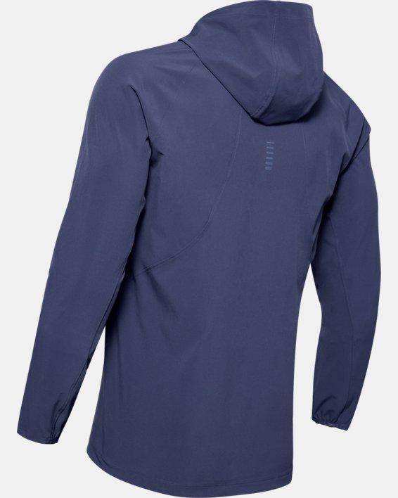 Men's UA Qualifier Outrun The Storm Jacket, Blue, pdpMainDesktop image number 4