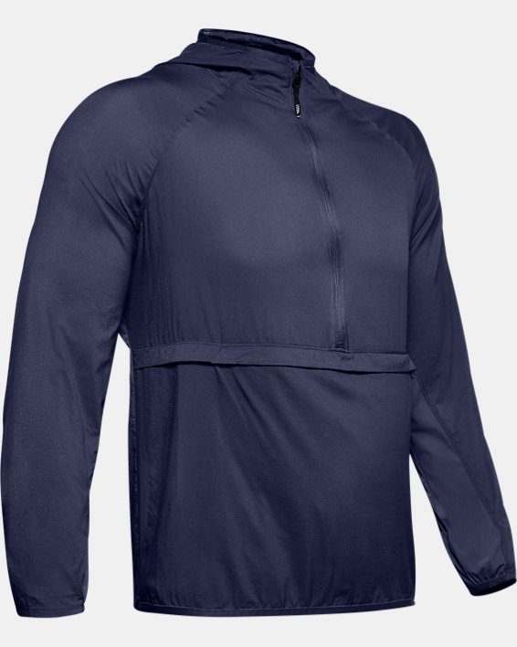 Men's UA Qualifier Weightless Packable Jacket, Blue, pdpMainDesktop image number 3