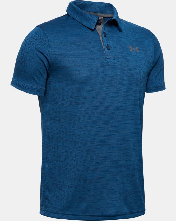 Boys' UA Performance Polo Twist, Navy, pdpMainDesktop image number 0