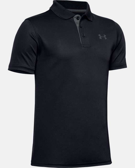 Boys' UA Performance Polo, Black, pdpMainDesktop image number 0