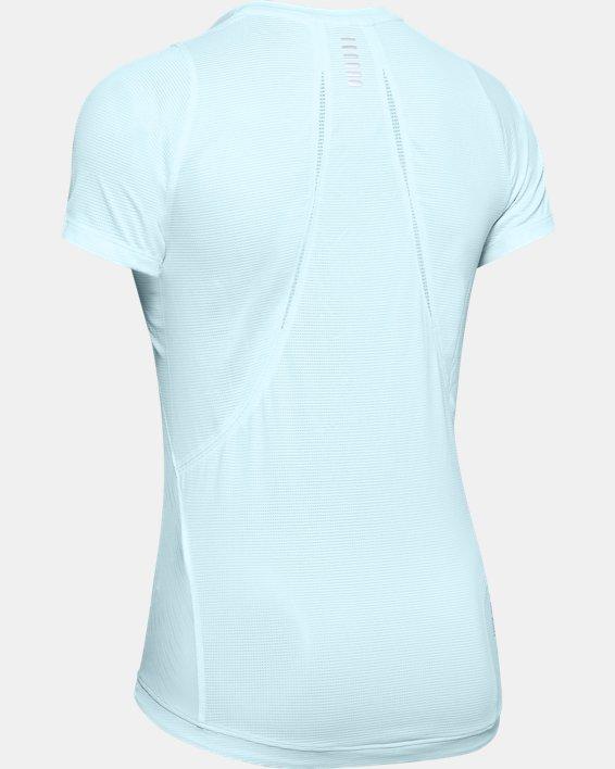 Women's UA Qualifier Iso-Chill Embossed Short Sleeve, Blue, pdpMainDesktop image number 4