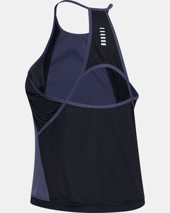 Women's UA Qualifier Iso-Chill Embossed Tank, Blue, pdpMainDesktop image number 4