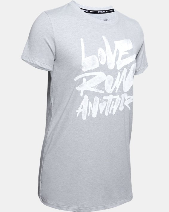 Women's UA Love Run Another Short Sleeve, Gray, pdpMainDesktop image number 4