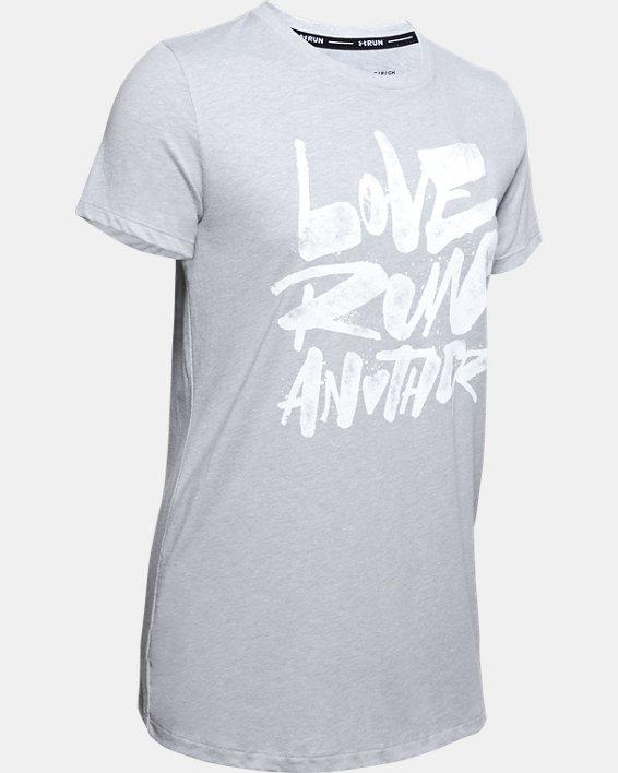 Women's UA Love Run Another Short Sleeve, Gray, pdpMainDesktop image number 4