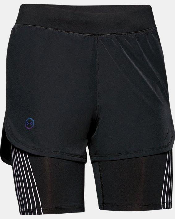 Women's UA RUSH™ Run 2-in-1 Shorts, Black, pdpMainDesktop image number 3