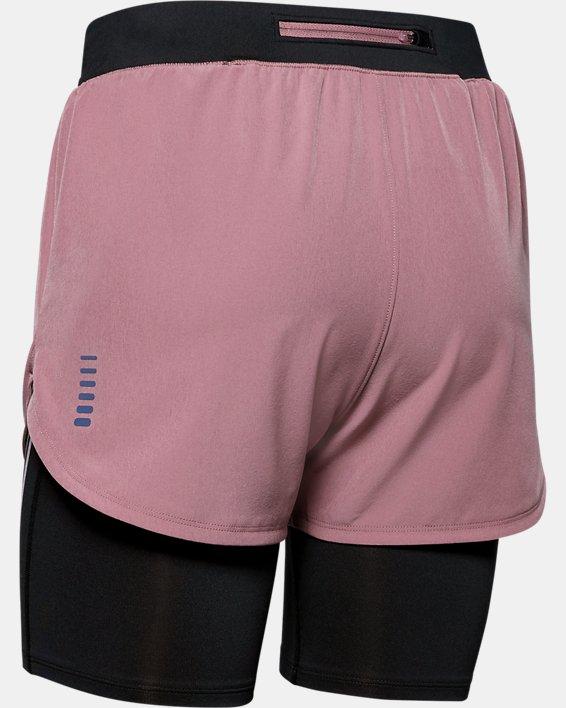 Women's UA RUSH™ Run 2-in-1 Shorts, Pink, pdpMainDesktop image number 4