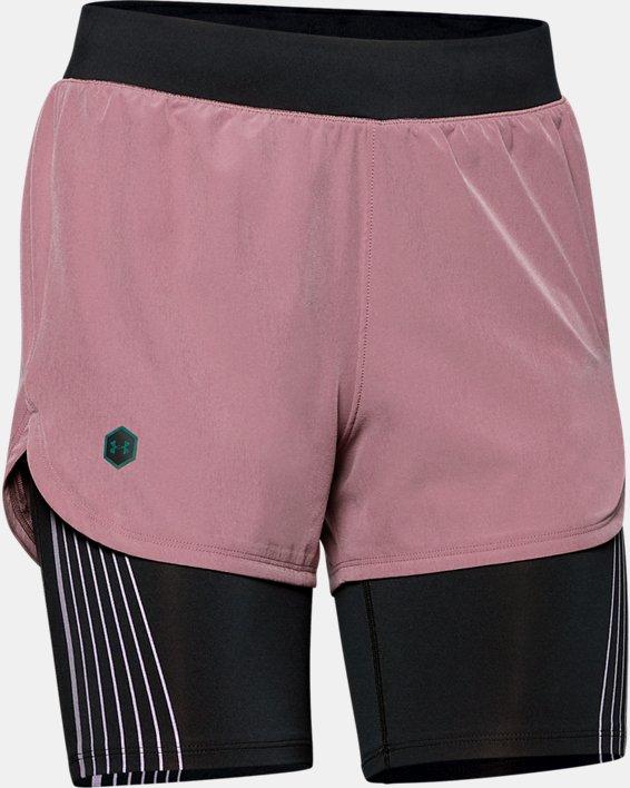 Women's UA RUSH™ Run 2-in-1 Shorts, Pink, pdpMainDesktop image number 3