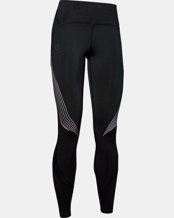 Women's UA RUSH™ Run Stamina Tights, Black, pdpMainDesktop image number 4