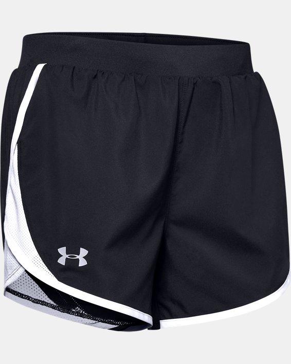 Women's UA Fly-By 2.0 Shorts, Black, pdpMainDesktop image number 4