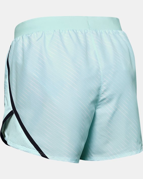 Women's UA Fly-By 2.0 Printed Shorts, Blue, pdpMainDesktop image number 5