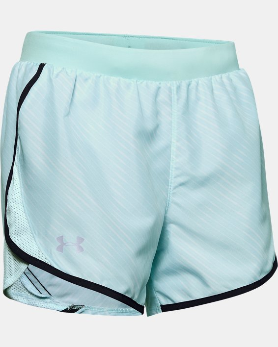 Women's UA Fly-By 2.0 Printed Shorts, Blue, pdpMainDesktop image number 4