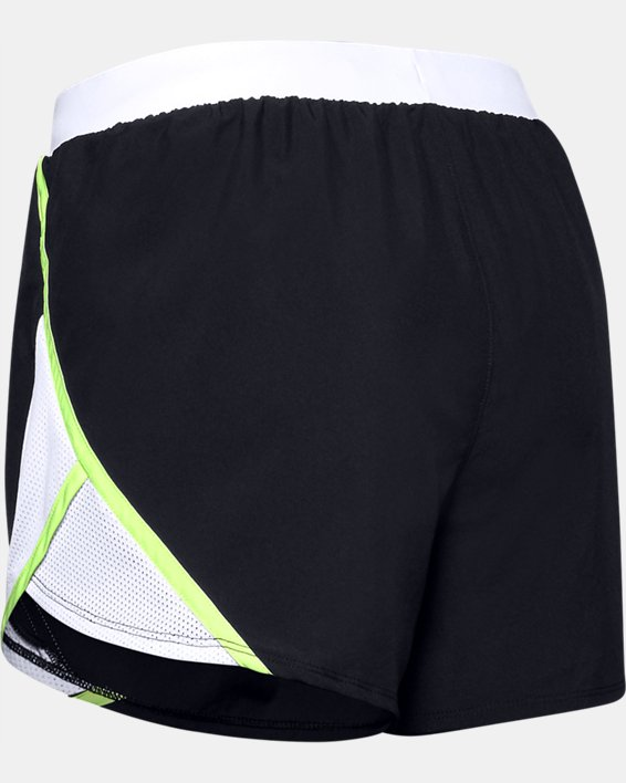 Women's UA Fly-By 2.0 Wordmark Shorts, Black, pdpMainDesktop image number 4