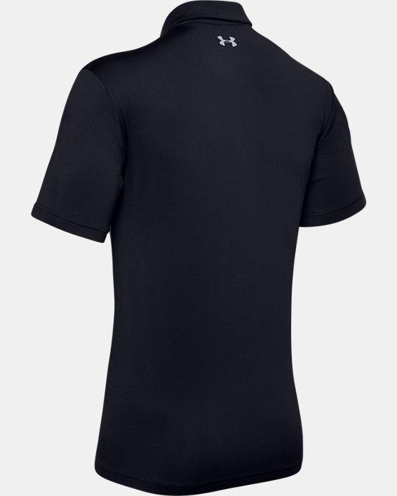 Men's UA Playoff Polo Colorblock, Black, pdpMainDesktop image number 5