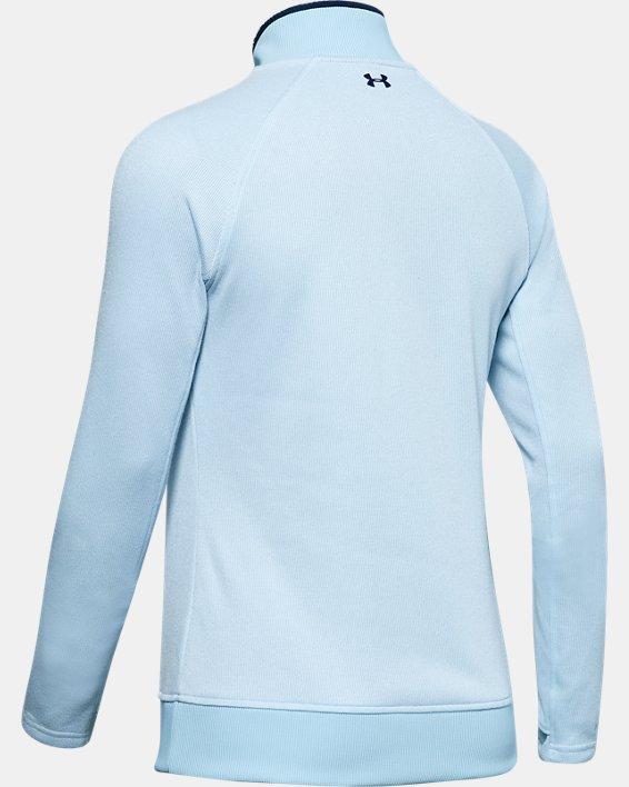 Women's UA Storm SweaterFleece ½ Zip, Blue, pdpMainDesktop image number 4