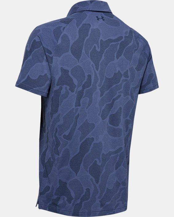 Men's UA Vanish Jacquard Polo, Blue, pdpMainDesktop image number 3