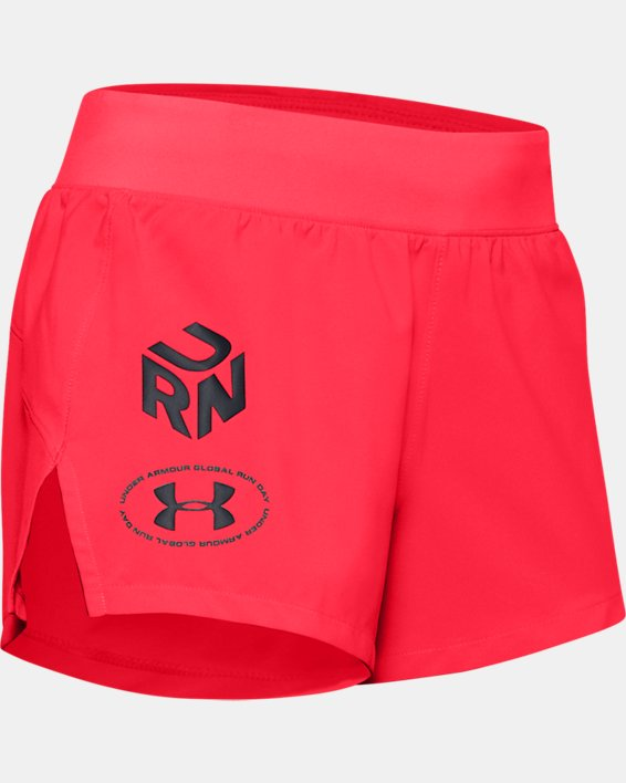 "Women's UA Launch SW 3"" Get Out & Run Shorts, Red, pdpMainDesktop image number 4"
