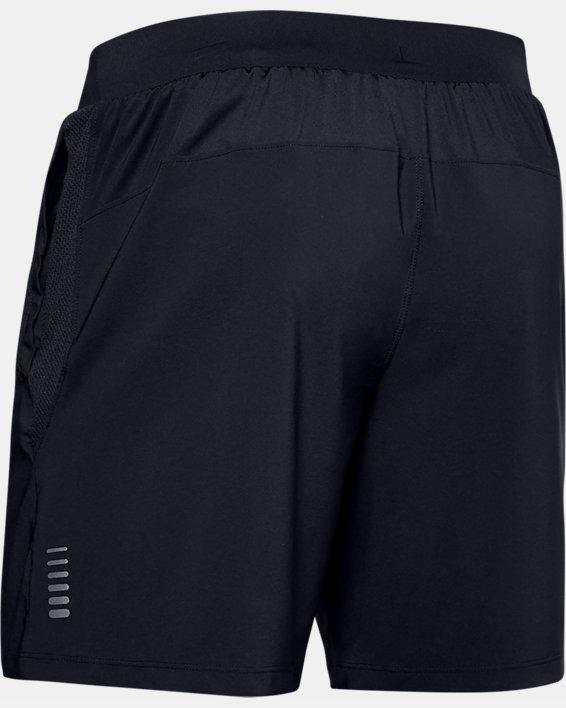 Men's UA Qualifier Speedpocket Branded 7'' Linerless Shorts, Black, pdpMainDesktop image number 5