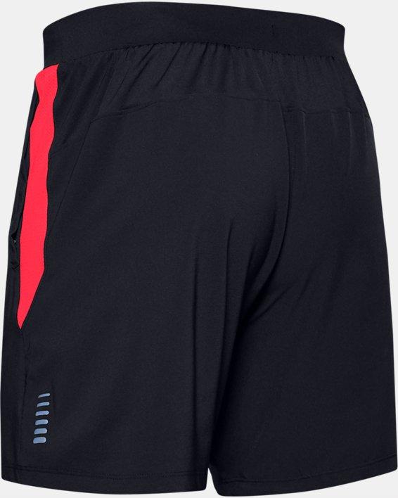 Men's UA Qualifier Speedpocket Branded 7'' Linerless Shorts, Black, pdpMainDesktop image number 4
