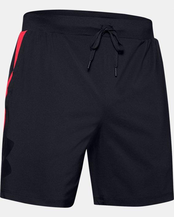 Men's UA Qualifier Speedpocket Branded 7'' Linerless Shorts, Black, pdpMainDesktop image number 3