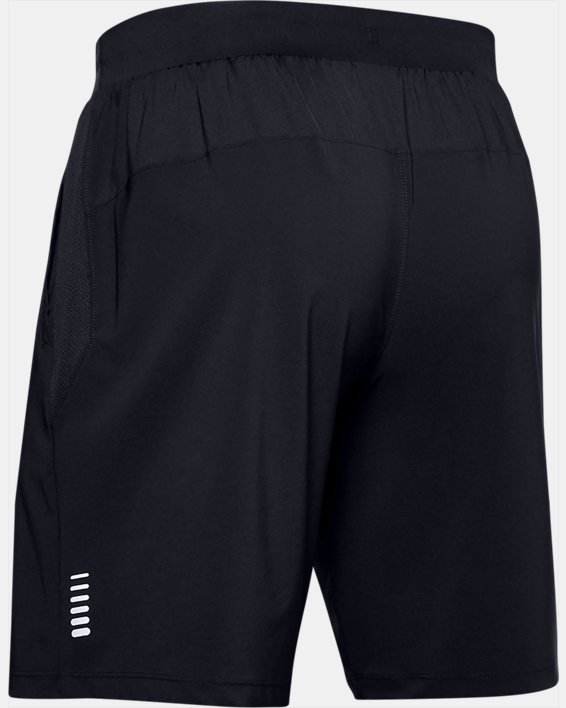 Men's UA Qualifier Speedpocket 9'' Linerless Shorts, Black, pdpMainDesktop image number 4