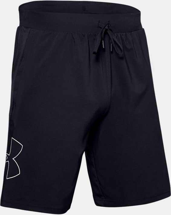 Men's UA Qualifier Speedpocket 9'' Linerless Shorts, Black, pdpMainDesktop image number 3
